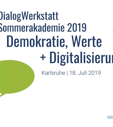 DialogWerkstatt Programm-Folien | SommerAkademie 2019