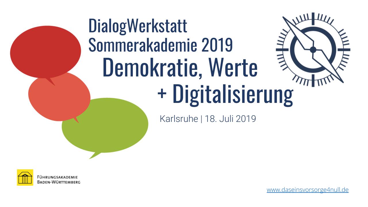 DialogWerkstatt SommerAkademie 2019